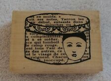 "French Hat Box Rubber Stamp/Scrapbooking/Crafts 3 1/8"" by 2 1/4"""