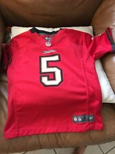 Tampa Bay Buccaneers Josh Freeman youth kids Red Nike jersey #5 Size L Used