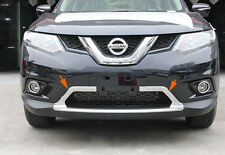 Chromed 2PCS Front Lower Grille Grill Trim For Nissan X-Trail Rogue 2014 15