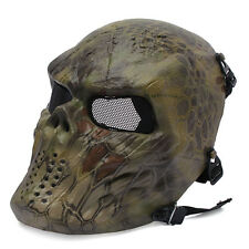 *M06 Hland Airsoft Paintball Metal Mesh Full Face Skull Mask Cosply War Game