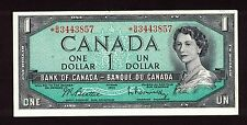CANADA 1954 $1 BEATTIE RASMINSKY REPLACEMENT NOTE *B/M3443857 CURRENCY UNC