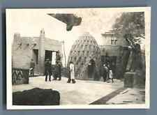 France, Exposition Coloniale Internationale de 1931. Hutte du Chad  Vintage silv