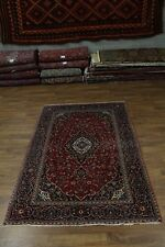 Traditional Red Hand Knotted Kashan Persian Rug Oriental Area Carpet 6'2X9'6