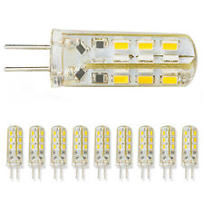 10X G4 Home 3014SMD LED light lamp 12V 1.5W Warm White Silicone Crystal Slim AS