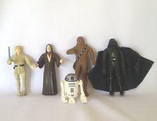 5 Star Wars Bend-Ems Action Figures RUBBER Just Toys 1993 R2D2 Darth Vadar VTG