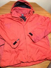 NIKE CLIMA-FIT PACKABLE RAIN JACKET TRACK RUNNING GOLF HOODED BURNT ORANGE