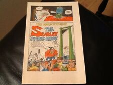 MONSTER FUN BADTIME BEDTIME BOOK 1970's Paper pull / cut out THE SCARLET PIMPLY