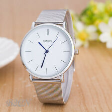 Fashion Geneve Women's Watch Stainless Steel Analog Quartz Wrist Watches Silver
