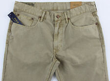 Men's POLO RALPH LAUREN Khaki Jean-Style Pants 36x34 NWT NEW Slim Straight