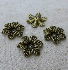 Antique Bronze Floral Bead Cap - Pack of 10 pcs