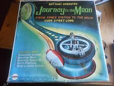 Journey To The Moon  Vintage Tin Space Game Toy  MEGO JAPAN RARE!!!