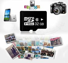 32GB Class 10 Micro SD Card SDHC TF Flash Memory With FREE Adapter Black NEW