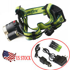 15000lm CREE XM-L 3xT6 LED Headlight Headlamp 18650 Torch Flashlight/Charger USA