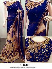 Designer Wear Georgette with Net Stunning Design Saree