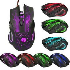 6 Button 5500DPI USB2.0 LED Maus Optisch Wired Gaming PRO Mouse PC Maus Laptop