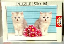 "~RARE~ EDUCA puzzle ""The Present"" Cat theme 1500 pc Puzzle"