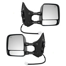Set of Tow Power Mirrors Heated Dual Arms for 04-14 Nissan Titan Pickup Truck