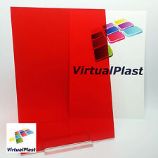 3mm Transparent Red Acrylic Plexiglass Perspex Cut 150mm x 210mm A5 Sheet