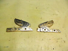 82 Honda CB750 CB 750 SC Nighthawk gas fuel Tank right left side emblems