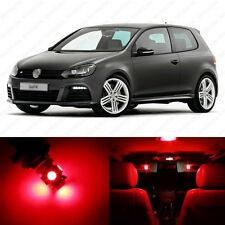 11 x Brilliant Red LED Interior Light Package For 2010 - 2013 VW Golf GTi Mk6