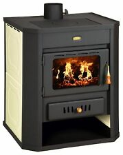 Wood Burning Stove Boiler Multi Fuel Fireplace Water Jacket Colored Prity WD W15