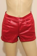 Ladies' Faux Leather, 100% Polyester Hot Pants