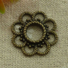 free ship 80 pieces Antique bronze flower connector 26x3mm #3155