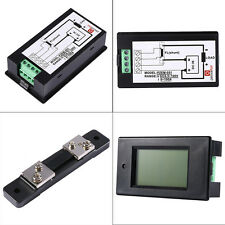 New DC 50A 4 in 1 LCD Digital Combo Panel Meter Voltage current Monitor KWh watt