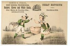 German Town Hosiery, Gloves and White Goods Trade Card