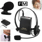 Lapel Clip Wireless Headset Mic Remote Microphone FM Transmitter Receiver WM-603