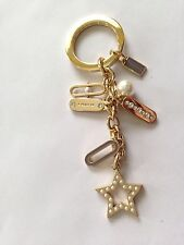 NWT Coach Pearls & Crysta Keychain Key Fob. Great Gift or Accessory for your bag
