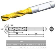 KENNAMETAL B210F13500HP KC7515 D 13.5 MM CARBIDE DRILL OAL 107 COOLANT