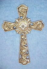 Crosses Silver Cross Wall Hanging Decor w/ Rhinestone center Christian Religious