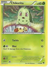 POKEMON XY BREAK-POINT CARD - CHIKORITA 1/122