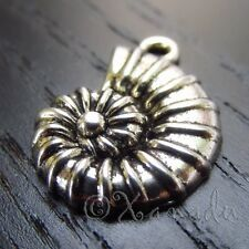 10PCs Spiral Seashell Wholesale Silver Plated Shell Pendant Charms - C0559
