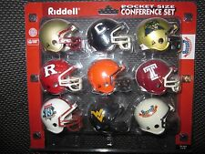 Riddell Pocket Pro Football Helmets NCAA BIG EAST Set Vintage Rare Mint Original