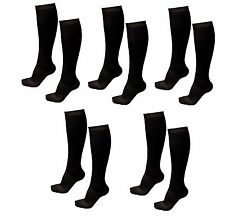 5 Pair Lg/XL Black Compression Support Socks 20-30 mmHg Graduated Men's Women's