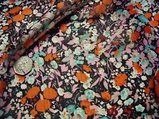 Arruga De Gasa De Piso Estampado Floral-red/pink/aqua-dress fabric-free de envío