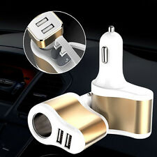 Cigarette Lighter Adapter 3.1A Dual USB Ports Car Charger For iPhone 6/6s/Plus/5