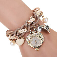 Fashion Womens Watch Ladies Heart Bracelet Watches Metal Preparation Wrist Watch