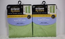 2 - Eclipse MILEY Thermal BLACKOUT Pole Top Panel Drape 42 x 63 Each GREEN *NEW*