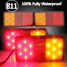 2x Waterproof 14 LED 12V Rear Tail Lamps Brake Lights Car Trailer Truck Boat E11