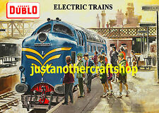Hornby Dublo 1960 Deltic A3 Poster Advert Sign British Rail - very high quality