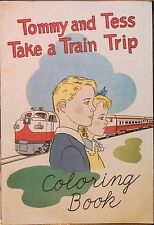 TOMMY & TESS TAKE A TRAIN TRIP AMERICAN RAILROAD RARE GIVEAWAY PROMO 1955 VFNM