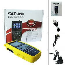 "Satlink WS-6933 DVB-S2 HD 2.1"" LCD FTA Digital Satellite Signal Finder Meter"