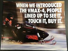 VINTAGE 1994 YAMAHA SNOWMOBILE VMAX-4 SALES BROCHURE 8 PAGES POSTER SIZE (949)