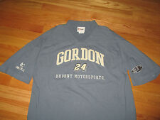 JEFF GORDON Dupont Motorsports NASCAR Embroidered No. 24 (MED) V-Neck Shirt