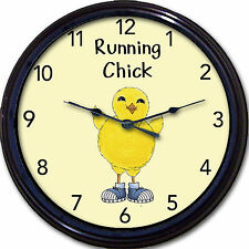 """Running Jogging Track Wall Clock Sports Sneakers Chick Runner Jogger New 10"""""""