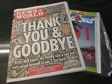 NOTW News of the world last newspaper edition final with supplement sealed
