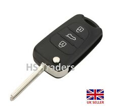 Remote Key Shell Case Flip Fob for HYUNDAI i20 i30 3 Buttons with BLADE + LOGO